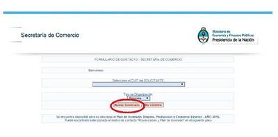 secretaria de comercio nuevo formulario